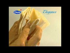 Napkin folding for the holiday table