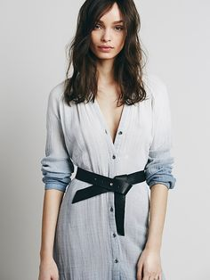 Free People Ribbon Leather Belt, $98.00