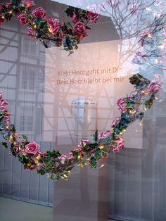 MM   VM and the silent dialogue.  #funeral #window #display #visualmerchandising #vm #markomargeta #mmlvm #roses #detail #heart #lights #urn with #swarovski #crystals #powder #colours #farrowandball #thesilentdialogue Marko Margeta   Visual Merchandising
