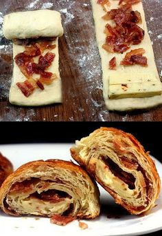 Napolitanas de Bacon y queso