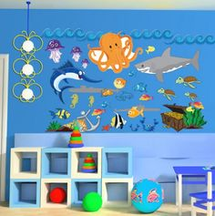 Ocean Theme Wall Decals.