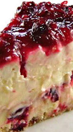Cranberry Layered Cheesecake