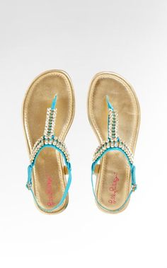Lilly Pulitzer Summer '13- Ritzy Sandal in Turquoise
