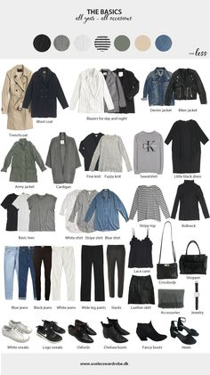 Updated basics overview - now added: army jacket and wide leg pants. #capsulewardrobe #basicwardrobe #basics #perfect #scandi #chic #style