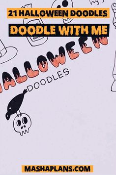 Check out my Doodle With Me Video to learn how to draw Halloween Doodles! Plus get a practice worksheet and a free printable set of Halloween stickers! Add spooky spirit to your Bullet Journal setup this October easily with these doodles. Halloween Doodle, Halloween Stickers, Bullet Journal Halloween, Bullet Journal Titles, Drawing Letters, Bullet Journal Inspiration, Free Printable, Doodles, Drawings