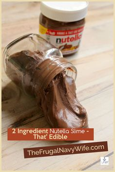 This edible Nutella Slime only takes2 ingredients and my kids swear it tastes like a Nutella Marshmellow. No joke. Make it yourself today. #nutella #slime #edibleslime #slimerecipe #frugalnavywife #easyactivityforkids | Slime Recipes | Edible Slime | Nutella Recipes | Kids Activities | Easy Crafts For Kids Fun Diy Crafts, Easy Crafts For Kids, Do It Yourself Projects, Do It Yourself Home, How To Make Nutella, Edible Slime, Epic Kids, Nutella Recipes, Slime Recipe
