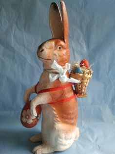 Antique Rabbit Candy Container