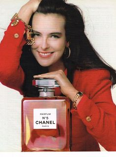 PUBLICITE ADVERTISING 074 1988 CHANEL parfum n° 5 CAROLE BOUQUET