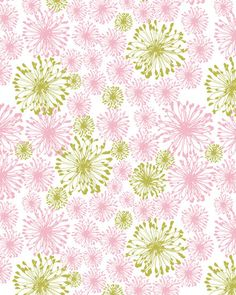 Squiggly Flowers Fabric from Saffron Craig