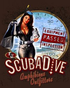 Scuba Diver ADD CUSTOM WORDS Diving Vinyl Decal Sticker B