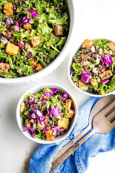 This vegan lentil salad is easy to make, highly nutritious, absolutely delicious and beautiful too. No oil mustard miso dressing whisks together quickly for a complete meal in under 30 minutes. Easy Meal Prep, Easy Meals, Miso Dressing, Lentil Salad, Plant Based Protein, Roasted Sweet Potatoes, How To Make Salad, Healthy Salads, Vegan Recipes Easy
