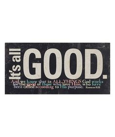 Look what I found on 'It's All Good' Romans Block Romans 8 28, Its All Good, Love Posters, Homemaking, Love Him, Wood Signs, Painted Wood, Hand Painted, Bible Verses