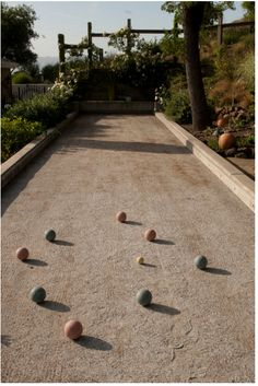 petanque tournament...oooh, set up a permanent bacce ball area ...