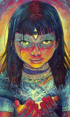 Seeing through the third eye is something that sparkles the interest of many. See the visions one could get with an open third eye. Art Inspo, Kunst Inspo, Inspiration Art, Psychedelic Art, Art Visionnaire, Psy Art, Mystique, Visionary Art, Third Eye