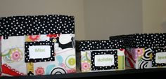 Super cute DIY fabric storage boxes
