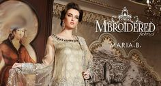 MARIA.B MBROIDERED Wedding Collection Unstitched Edition 2017-2018