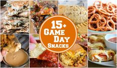 Over 15 of the best game day snacks to keep you full during those stressful games! Everything from wings to cheese dip, there's something for everyone! Game Day Snacks, Game Day Food, Party Snacks, Party Appetizers, Fun Food, Ranch Dip, Jambalaya, Yummy Snacks, Snack Recipes