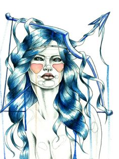 """Sagittarius"" Art Print by Mia Desu   Society6"