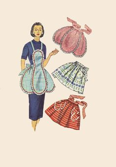 1950s Apron Vintage Simplicity Sewing by AdeleBeeAnnPatterns, $12.50