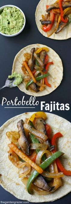 EASY and amazing portobello fajitas! So simple to make, and great for weeknight meals (vegan, gluten-free)