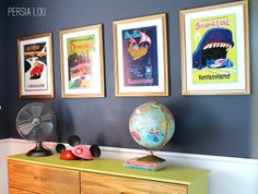 Small Shared Boy and Girl's Bedroom: Vintage Disneyland Room Reveal by Persia Lou