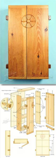 Small Wall Cabinet Plans - Furniture Plans and Projects   WoodArchivist.com