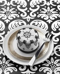 Monochrome Lace petite cake by Little Venice Cake Co., London UK
