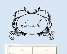 Personalized name for a girl's room wall decal