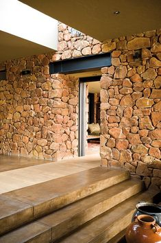 The Stone Age - a beautiful house with natural stone walls.