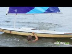 How To Sail: How To Recover When A Sailboat Capsizes   http://www.startedsailing.com  Alex Schulte explains the basics of sailing and shows how to recover when a sailboat capsizes.