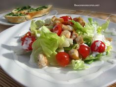 This is a super easy recipe for a salad that can work as lunch or dinner. And the yogurt dressing really stands for yogurt, no mayo or anything else. W/recipe :)
