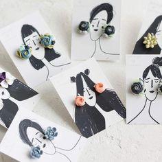Updates from EtenIren on Etsy Polymer Clay Crafts, Diy Clay, Diy Earrings, Polymer Clay Earrings, Stud Earrings, Diy Gifts, Diy And Crafts, Creations, Handmade Jewelry