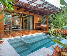 At Nayara Springs of La Fortuna, Costa Rica, each of the 16 villas comes with its own plunge pool, drawing on mineral-rich spring waters from Arenal Volcano next door.