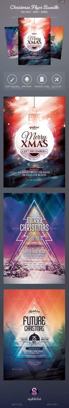 Christmas Flyer Bundle Template PSD #design Download: http://graphicriver.net/item/christmas-flyer-bundle-vol03/13932067?ref=ksioks