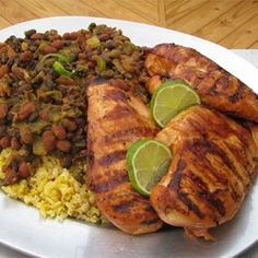 Key West Chicken - Allrecipes.com -  In a shallow container, blend soy sauce, honey, vegetable oil, lime juice, and garlic. Place chicken breast halves into the mixture, and turn to coat. Cover, and marinate in the refrigerator at least 30 minutes, preferably overnight. Bake as usual.