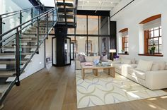 Penthouse Loft by Turett Collaborative Architects