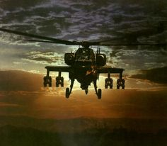 A Boeing AH-64 Apache ready for tank-busting with 16 Hellfire anti-tank missiles as its loadout.