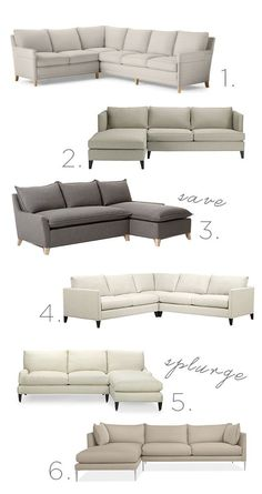 On the Hunt: Sectional Sofas - Sacramento Street Living Room Sofa Design, New Living Room, Home And Living, Living Room Furniture, Home Furniture, Living Room Decor, Modern Living, Leather Sectional Sofas, Couches
