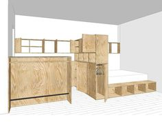 Plan am nagement studio paris agencement 10m2 d coration for Kinderzimmer 11m2