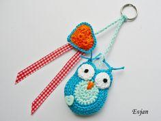 ♥ Eulen-Schlüsselanhänger ♥ von Evjan auf DaWanda.com