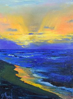 Haleiwa Sunset by Southern California Palette Knife Artist Garry Abel