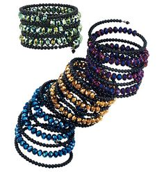 Sparkling Rainbow Spiral Bracelet in Outlet  Available in Green only.  Wrap bracelet with smooth and faceted beads. One size fits most.     GOOD TO KNOW   All of Avon's jewelry is nickel-free for those with sensitive skin & allergies to nickel.