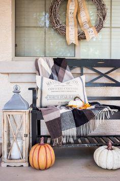 Fall Farmhouse Porch Winter Home Decorwinter