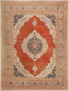 Antique Tabriz Persian Rug 45765 By Nazmiyal