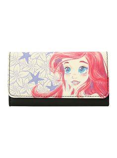 Disney The Little Mermaid Ariel Sketch Flap Wallet   Hot Topic