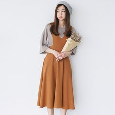 Korean Fashion - Single color dress