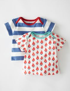 Nautical Twin Pack T-shirt/Boys at Boden