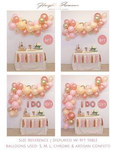 Balloon Garland Kit - Blush Peach and Rose Gold Balloon Arch / Wedding Balloons / Neutral Baby Shower / Bridal Shower Decor / Bachelorette Rainbow Balloon Arch, Balloon Arch Diy, Balloon Backdrop, Balloon Decorations, Birthday Decorations, Moon Balloon, Balloon Ideas, Unicorn Balloon, Balloon Banner