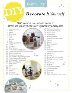 50 Common Household Items to DIY with PartyLite Candle Holders