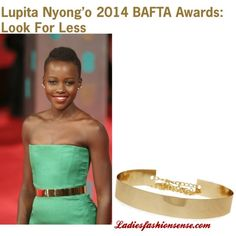 """""""Lupita Nyong'o Bafta: Gold Belt Look For Less"""" by ladiesfashionsense on Polyvore"""